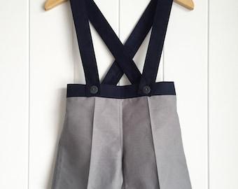 Boys suspender shorts