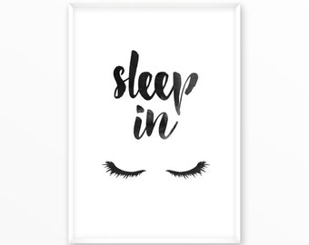 Sleep in Print, dream big Poster, printable, art, digital, Typography, Vintage, Grunge, Inspirational Home Decor, Screenprint, wall art
