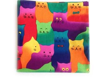 Pocket Square: Techno Cats