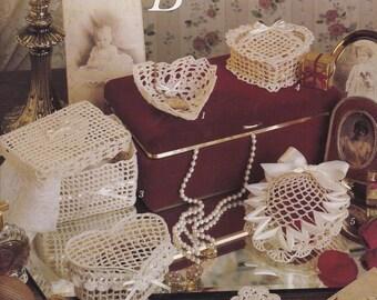 Sweetheart Boxes, Leisure Arts Crochet Pattern Booklet 893