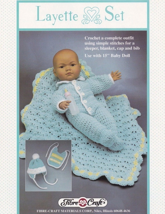 Baby layette fibre craft 15 inch doll clothes by for Fibre craft 18 inch doll