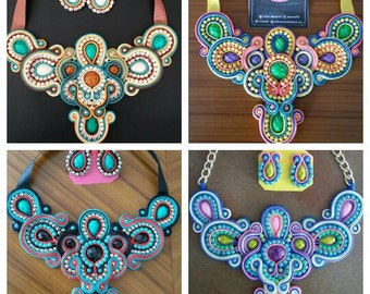Necklaces and earrings package Soutache . Great opportunity