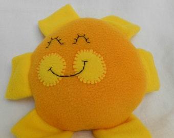Happy Sunshine Plushie or Decorative Pillow