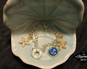 Nautical Bracelet- Handmade, one of a kind!