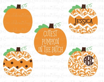 Cutest Pumpkin in the Patch Design for Silhouette and other craft cutters (.svg/.dxf/.eps/.pdf)