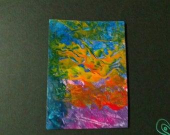 Set Free - abstract acrylic ATC