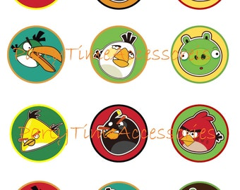 Angry Birds (A) Edible Cupcake/Cookie Toppers for Birthday or Other Special Occasion!