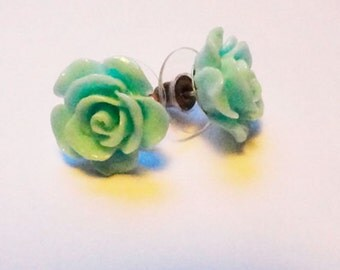 Earrings pink mint