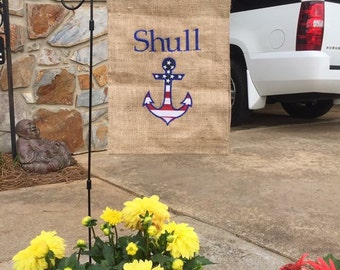 Welcome to our Home Two Sided Burlap Flag