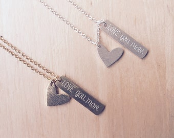 Cute 'love you more' Necklace