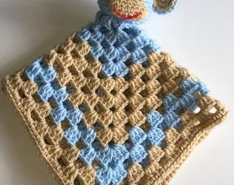 Crocheted little  Monkey blankie for baby boy