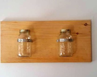 Rustic Mason Jar Plaque