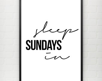 Sleep in Sundays Poster