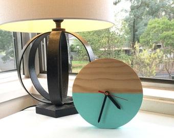 Timber desk clock - small clock - table clock - natural clock - modern desk decor - office clock - homewares