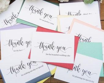 Wedding Vendor THANK YOU Cards, Photographer Thank You Card, Hairstylist Thank You Card, Wedding Vendor Tip Cards, Wedding Thank You Cards