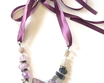 Crystal necklace, Spring jewelry
