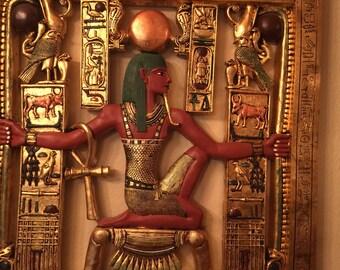 Egyptian Pharaoh Pendant Necklace Ancient Egypt Historical Jewelry Vintage