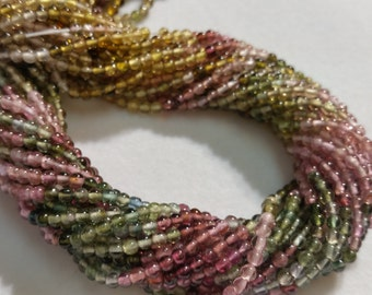 Multy Tourmaline Smooth Round beads 2.5 - 3mm , Fine quality beads