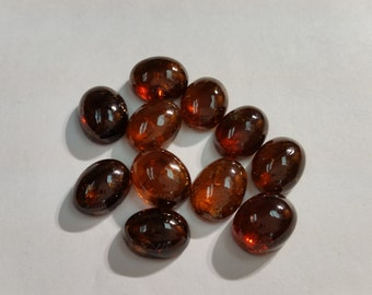 8x10mm Brown Grossural Garnet Smooth Cabochons, Pack of 4 pcs.