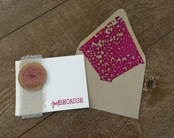 Handmade Stationary ~ Blank Inside