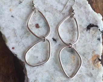 Up-Cycled Silver Dangle Earrings