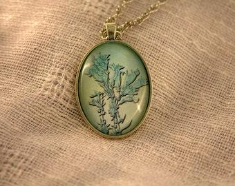 Aqua Blue Blossom Pendant