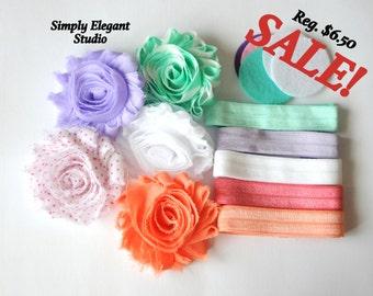 Headband Supply Kit, Baby Shower Headband Kit, Infant Headband Kit, DIY Headband, Kit #109