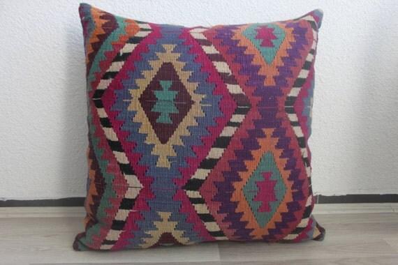 purple pillow blue throw pillow motif pillow huge pillow large