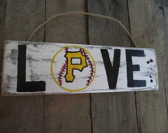 Pittsburgh Pirates baseball sign | Hand-painted sign | Rustic wood pallet sign | Pittsburgh sports sign | Baseball sign
