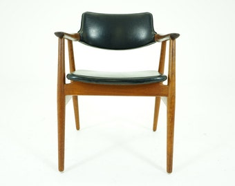 305-187 SALE! Danish Mid Century Modern Teak Arm Chair by Erik Kirkegaard