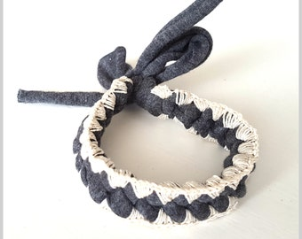 Crochet Friendship Bracelet | Anthracite