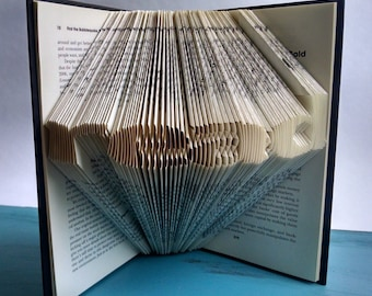 "Folded Book Art Featuring the Word ""read"" - Great Gift for the Book Lover"