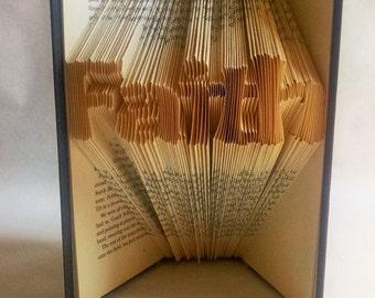 Folded Book Art Easter Decoration, Inspirational Art, Religious Decor