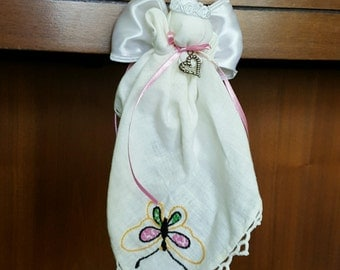 Angel - Antique Handmade Handkerchief