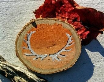 Antlers on Orange