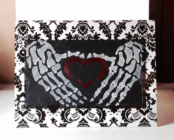 gothic heavy metal valentine birthday card e.e cummings, Birthday card