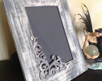 Shabby grey frame