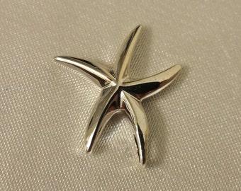 Starfish pendant, Sterling Silver Star fish pendant