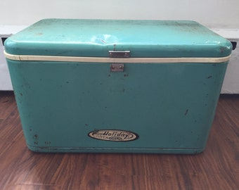1950's Thermos Holiday Cooler in Turquoise