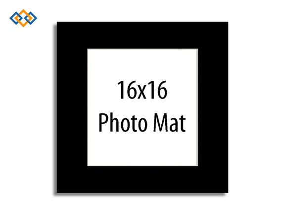 Custom 16x16 Mat White Core Square Photo Mats