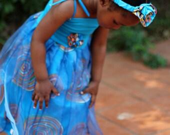 Girls princess dress,  Blue fairy costume, Girls party dress, African fairy dress, Festival dress, Woodland dess, Fairy dress,