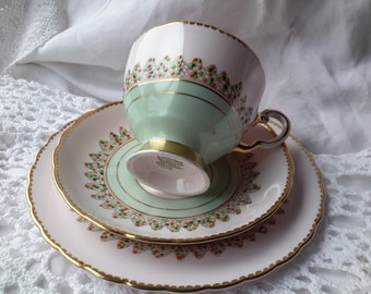 Vintage Tuscan Hand finished Tea Cup  Saucer, Plate