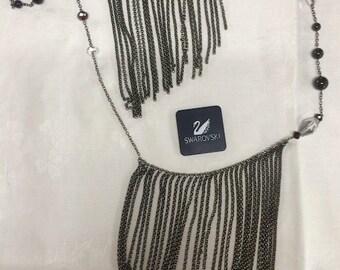 1940s NEW Swarovski Fringe Necklace