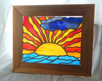 Sunrise--Stained Glass