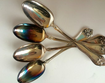 1881 Rogers silver-plated spoons set of 4 pieces 7""