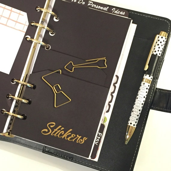Personal Planner Folder With Double Pocket - Personal Size