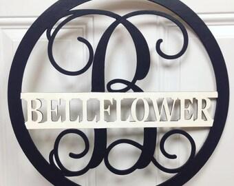 Family Name Monogram Door Hanger