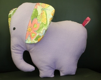 Elephant Krinkle Softie, Baby Girl, Stuffed Animal