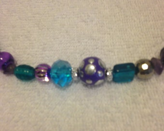 Purples, blues, greens  Necklace