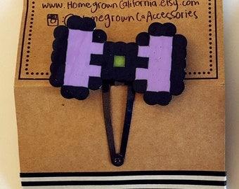 pixel bow barrette